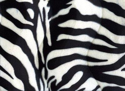 Velboa Dieren Print Zebra Groot