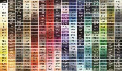 kleuren en kleurnummers