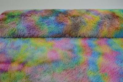 Teddy Fleece regenboog Design 2