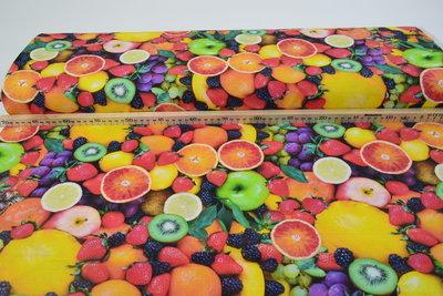Katoen Canvas Stof Digitaal Fruit
